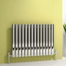 Nerox - Stainless Steel Horizontal Radiator - H600mm x W413mm - Single Panel