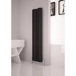 Carisa Nixie Black Vertical Designer Radiators