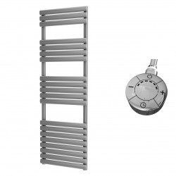 Omega - Silver Electric Towel Rail - H1595mm x W500mm - 600w Thermostatic