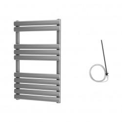 Omega - Silver Electric Towel Rail - H825mm x W500mm - 400w Standard