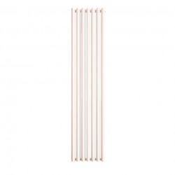 Oval - White Vertical Radiator - H1800mm x W410mm