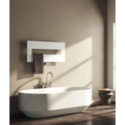 Polia - White Towel Radiator - H400mm x W900mm