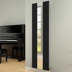 Reflect - Black Vertical Radiator - H1800mm x W445mm - Single Panel