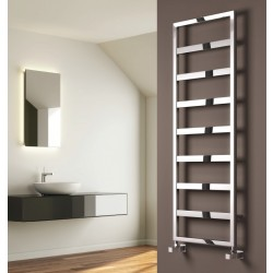 Rezzo - Chrome Towel Radiator - H740mm x W450mm