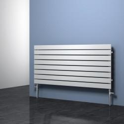 Rione - White Horizontal Radiator - H544mm x W600mm - Single Panel