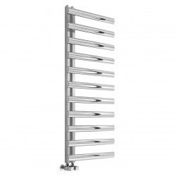 Cavo - Stainless Steel Towel Radiator - H880mm x W500mm  - Brushed