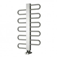 Dynamic - Stainless Steel Towel Radiator - H475mm x W500mm - Brushed