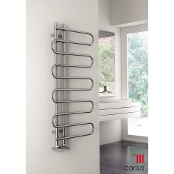 Carisa Rope Chrome Designer Heated Towel Rail 1000mm x 500mm Central Heating