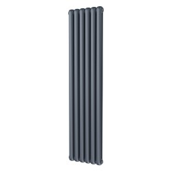 Sphera - Anthracite Vertical Column Radiator - H1800mm x W437mm - 2 Column