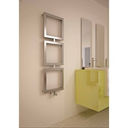 Ruma - Stainless Steel Towel Radiator - H840mm x W400mm - Brushed