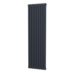 Sphera - Anthracite Vertical Column Radiator - H1800mm x W507mm - 2 Column