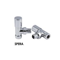 Spera - Chrome Thermostatic Radiator Valve - Angled