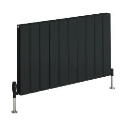 Stadia - Anthracite Horizontal Radiator - H600mm x W415mm - Single Panel