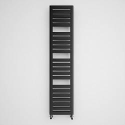 Salisbury - Metallic Black Towel Radiator - H1360mm x W300mm