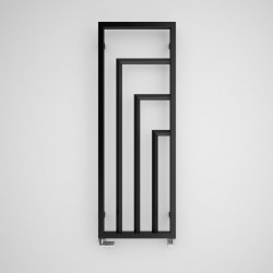 Harley - Black Vertical Radiator - H1400mm x W530mm