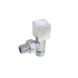HB Essentials Talus Squarehead Round Body Brushed Manual Valves - Angled