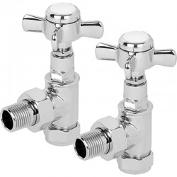 Signature Traditional - Chrome Thermostatic Radiator Valve - Angled