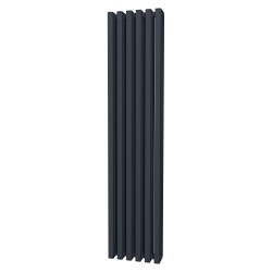 Tetra - Anthracite Vertical Column Radiator - H1800mm x W390mm