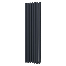 Tetra - Anthracite Vertical Column Radiator - H1800mm x W460mm