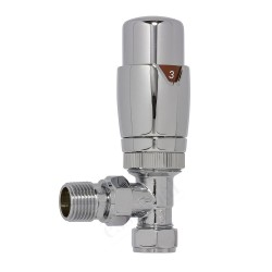 Carisa  - Chrome Thermostatic Radiator Valve - Angled