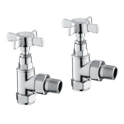 Carisa Traditional Angled Radiator & Towel Rail Valve Chrome