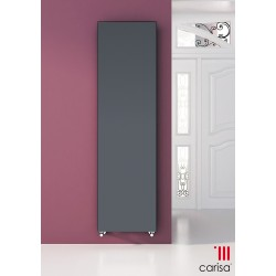 Carisa Trojan Black Vertical Designer Radiators