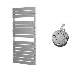 Typhon - Silver Electric Towel Rail - H1156mm x W500mm - 600w Thermostatic