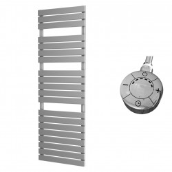 Typhon - Silver Electric Towel Rail - H1564mm x W500mm - 1000w Thermostatic