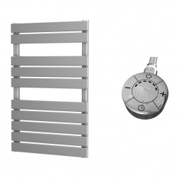 Typhon - Silver Electric Towel Rail - H816mm x W500m - 300w Thermostatic