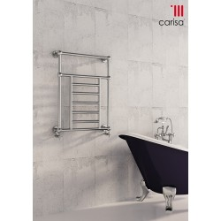 Carisa Vintage Wall Mounted Traditional Heated Towel Rail 800mm x 650mm
