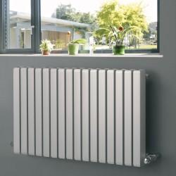 Vulkan Square - Silver Horizontal Radiator - H600mm x W885mm - Single Panel