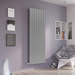 Vulkan Square - Silver Vertical Radiator - H1800mm x W435mm - Single Panel