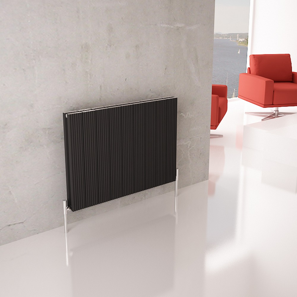 Carisa Monza Black Horizontal Designer Radiator 600mm x