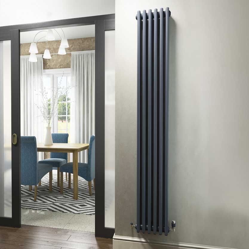 Anthracite vertical column radiator