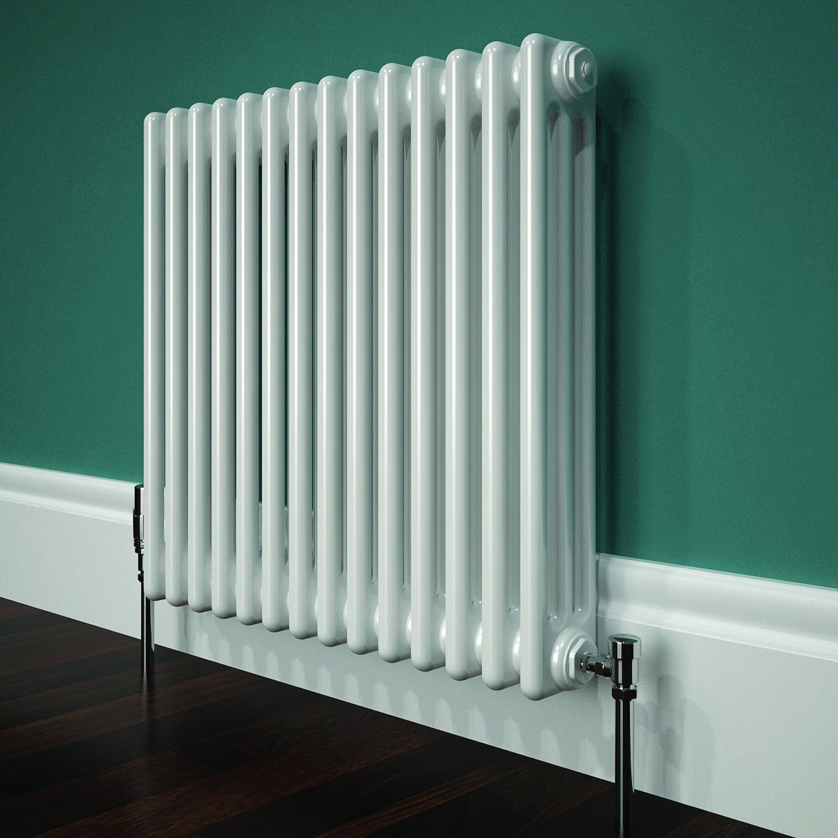 Stelrad white horizonal column radiator