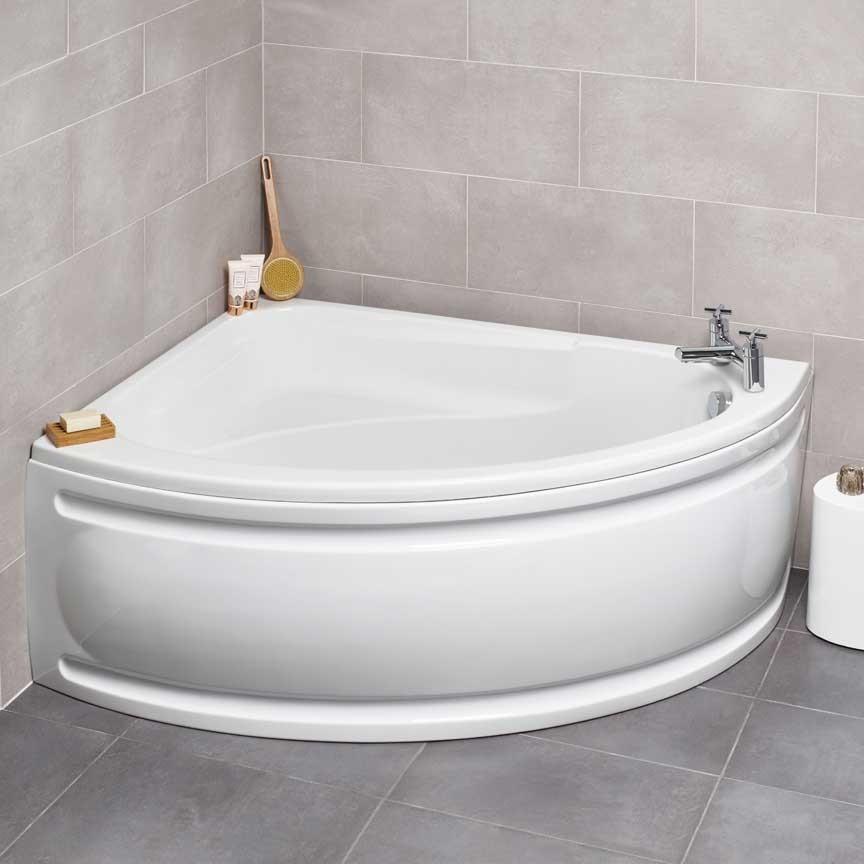 Corner bath round