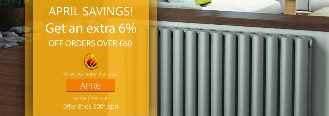 6% off orders over £60. Code: APR6