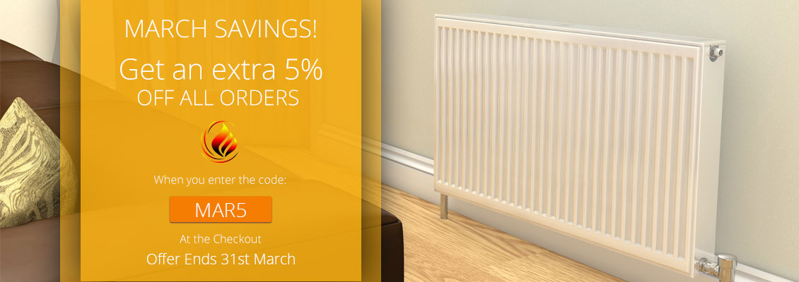 5% off all orders this March. Code: MAR5